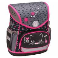 Belmil Compact merevfalú ergonómikus iskolatáska hátizsák - I love Cat - cicás