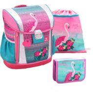 Belmil Customize-Me Pink Flamingo merevfalú iskolatáska szett - testmagassághoz állítható