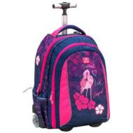 Belmil Trolley Easy-go 2 in 1 gurulós iskolatáska hátizsák - Flamingo