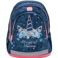 Belmil ergonómikus iskolatáska hátizsák - Blue Magical Unicorn - Unikornisos