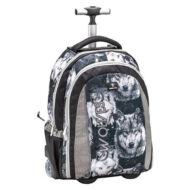 Belmil Trolley Easy-go 2 in 1 gurulós iskolatáska hátizsák - Wolf Wolves Grey - Farkas