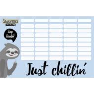 Lajháros nagy órarend - Lollipop Sloth Vibes