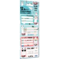 Lámás füzetcímke - Lollipop Lama LOL - 12 db / csomag