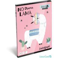 Lámás leckefüzet - A5 - Lollipop Lama LOL