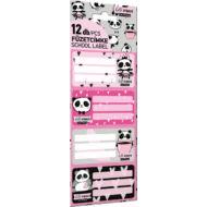 Pandás füzetcímke - Lollipop Hello Panda - 12 db / csomag