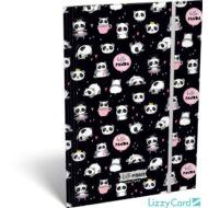 Pandás A4 gumis mappa - Lollipop Hello Panda