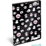 Pandás kockás füzet - A4 - 87-32 - Lollipop Hello Panda