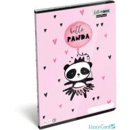 Pandás sima füzet - A4 - 80-32 - Lollipop Hello Panda