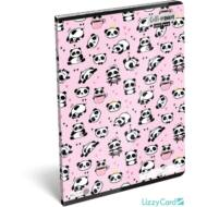 Pandás vonalas füzet - A4 - 81-32 - Lollipop Hello Panda