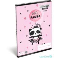 Pandás kockás füzet - A5 - 27-32 - Lollipop Hello Panda