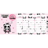 Pandás órarend - mini - Lollipop Hello Panda