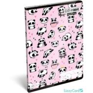 Pandás sima füzet - A5 - 20-32 - Lollipop Hello Panda