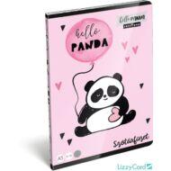 Pandás szótár füzet - A5 - 31-32 - Lollipop Hello Panda