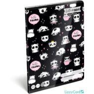 Pandás vonalas füzet - A5 - 4. osztálytól / 21-32 - Lollipop Hello Panda
