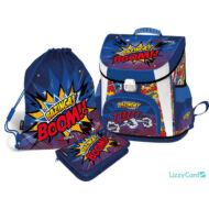 Bazinga prémium merevfalú ergonómikus iskolatáska szett - Supercomics