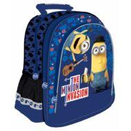 Minion ergonomikus hátizsák, iskolatáska - The Minion Invasion - kék