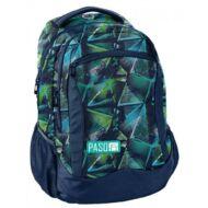 Paso kék-zöld prizma iskolatáska hátizsák