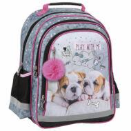 Kutyás ergonomikus iskolatáska hátizsák  - Cleo & Frank - Bulldog