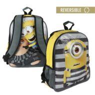 Minion és Gru kétoldalú átfordítható hátizsák iskolatáska