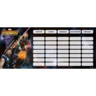 Bosszúállók órarend - mini - Avengers Infinity War