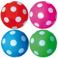 Pöttyös labda 23 cm - gumilabda - vegyes színek