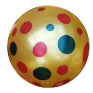 Pöttyös labda 23 cm - gumilabda színes