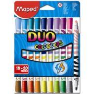 Filctoll készlet Maped Color Peps Duo - kimosható - 20 szín
