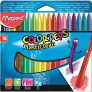 Maped Color Peps PlastiClean zsírkréta - 18 szín