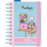 Pusheen cicás napi tervező 2020 - keményfedelű gumis határidőnapló