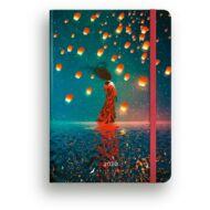 Heti tervező - Secret Calendar B6 Dolce Blocco - Lanterns lámpások határidőnapló / naptár