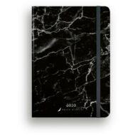 Heti tervező - Secret Calendar B6 Dolce Blocco - Marble Nero határidőnapló / naptár