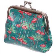 Flamingós kapcsos pénztárca