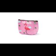 Flamingós cipzáras pénztárca Cute Birds School Art