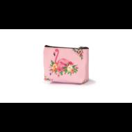 Flamingós cipzáras pénztárca pasztell - virágos