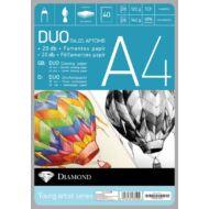 Rajzlap A4 félfamentes és famentes duopack - 40 db/csomag - Gyémánt rajzlaptömb