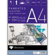 Rajzlap A4 famentes - 50 db/csomag - Gyémánt rajzlaptömb