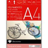 Rajzlap A4 félfamentes - 50 db/csomag - Gyémánt rajzlaptömb