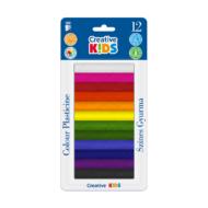 Gyurma Creative Kids - színes - 165 gr 12 szín