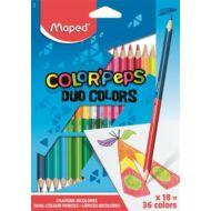 Maped háromszögletű kétvégű színes ceruza készlet - 36 szín - Color Peps Duo