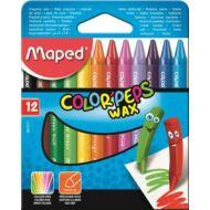 Maped Color Peps Wax háromszögletű zsírkréta - 12 szín