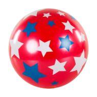 Csillagos labda 22 cm - gumilabda színes