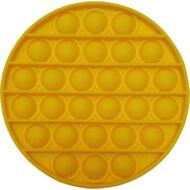 Pop it fidget stresszoldó játék - kerek - citromsárga