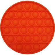 Pop it fidget stresszoldó játék - kerek - narancssárga