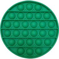 Pop it fidget stresszoldó játék - kerek - zöld