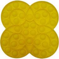 Pop it fidget stresszoldó játék - körös virágos - citromsárga