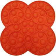 Pop it fidget stresszoldó játék - körös virágos - narancssárga