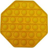 Pop it fidget stresszoldó játék - nyolcszögletű - citromsárga