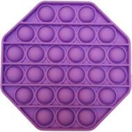 Pop it fidget stresszoldó játék - nyolcszögletű - lila