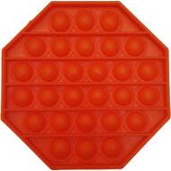 Pop it fidget stresszoldó játék - nyolcszögletű - narancssárga