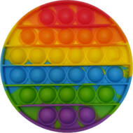 Pop it fidget stresszoldó játék - Rainbow - kerek